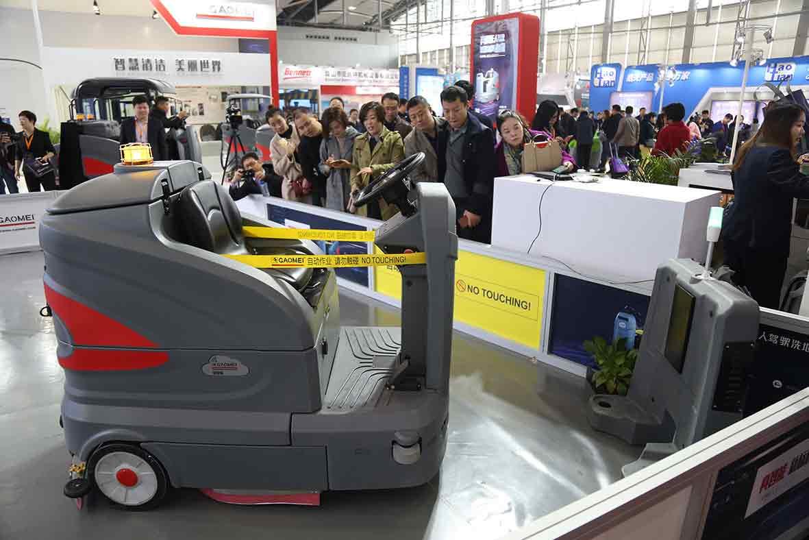 无人驾驶洗地机成为展会焦点
